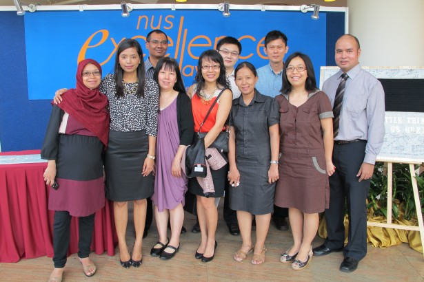 CIT staff supporting our award winners at NUS Excellence Day 2012