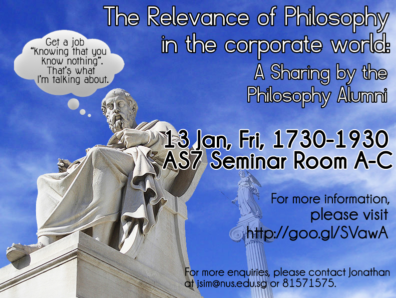 relevance of philosophy There are many people who question the importance of philosophy (such as  lawrence krauss), and i suspect that the main reason that they.