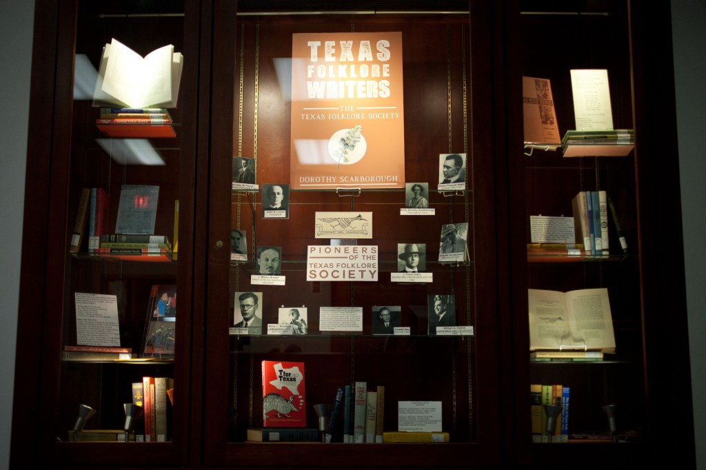 Texas Folklore Writers exhibit at The Texas Collection