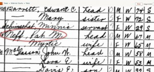 Pat Neff's census record