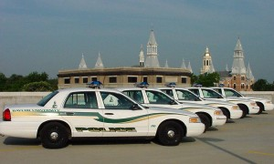 A picture of the Baylor Police Patrol Cars