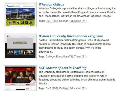colleges using wordpress