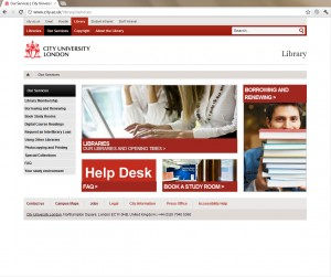 Screenshot of the new our services page for the library site