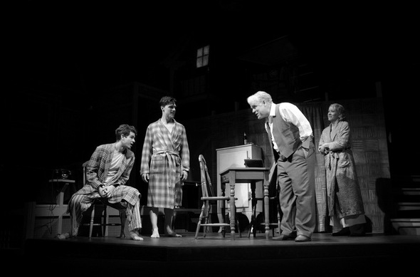 a review of a performance of death of a salesman a play by arthur miller Anchoring the london preem of robert falls' staging of death of a salesman, higgins  this review was  of a play in two acts by arthur miller.