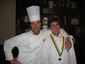 CIA Chef Phillips and Michael Nestrud, AOS '04 BS '08 PhD '11