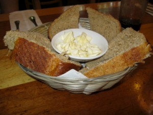 Unless it's totally awesome salad and bread (picture taken by me at Moosewood, in case you want your own.)