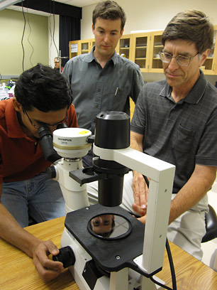 From left, Vinay Pagay, Abraham Stroock and Alan Lakso