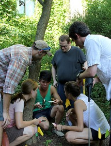 Master of Arts in Teaching students test soil pH as they explore ways to use nature as their classroom to teach science.