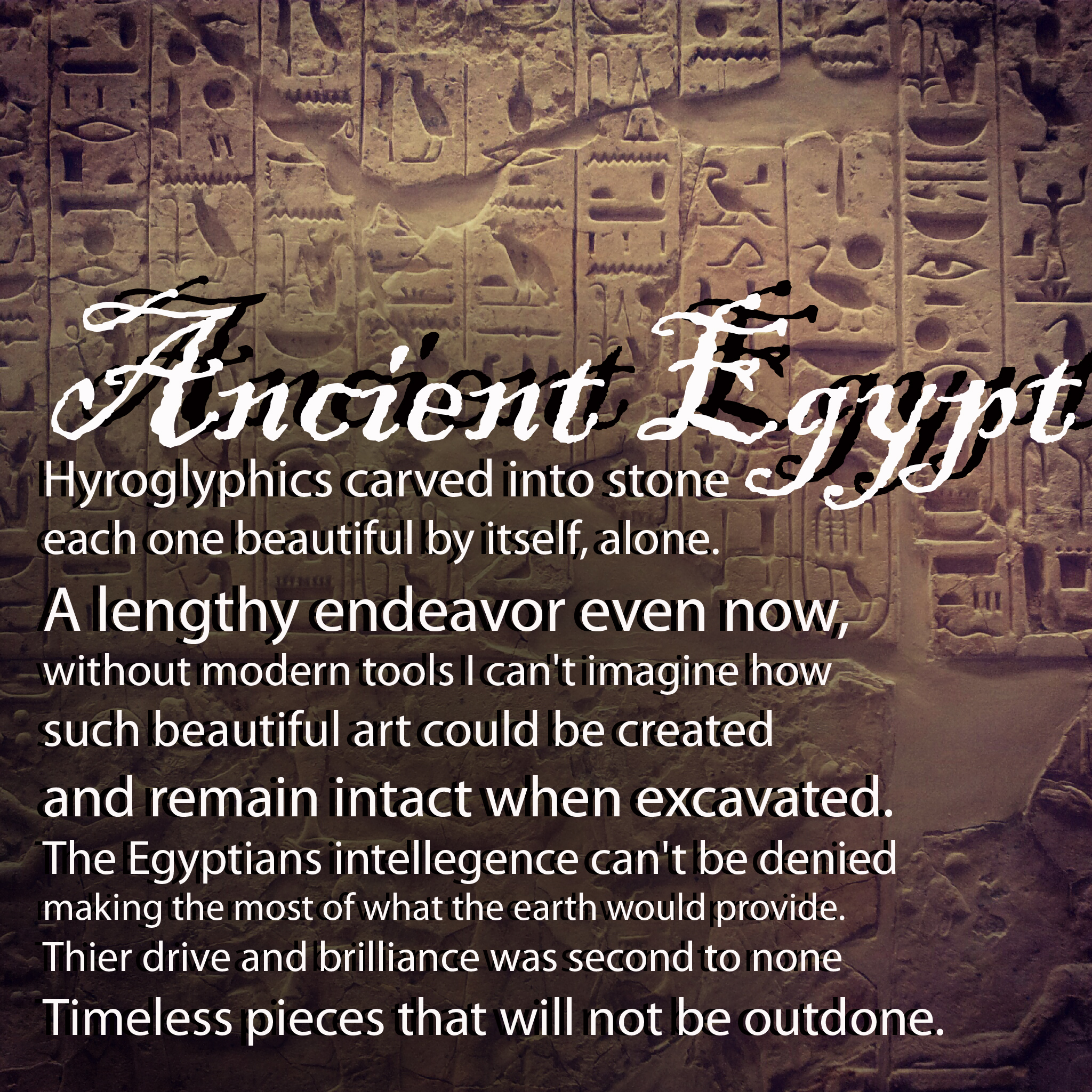 egyptian love poetry I wrote this poem to help the children remember some key facts we had learned about ancient egypt the children recited this poem as part of a class assembly.
