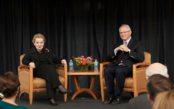 Albright discusses North Korean blunder during appearance at DU