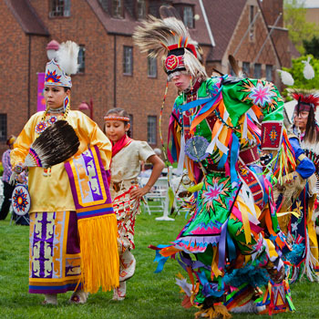 Dancers perform at the 2011 Powwow.