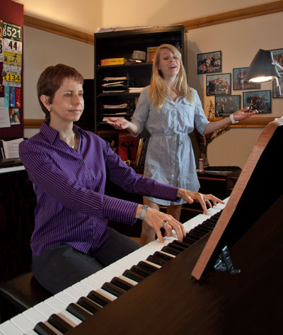Vocal jazz instructor hitting high notes with dual CD release