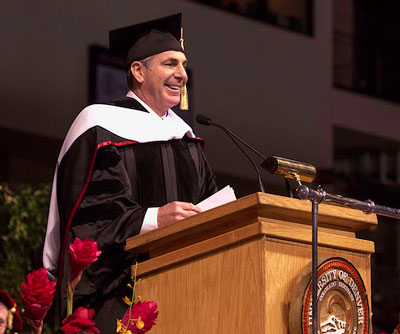 Movie producer Birnbaum encourages new grads to take chances