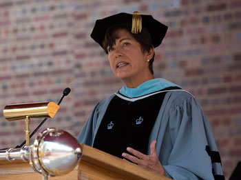 Women's College dean urges new graduates to overcome self-doubt