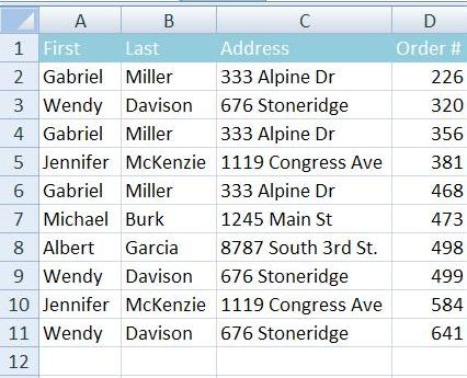 how to find duplicates in two excel spreadsheets