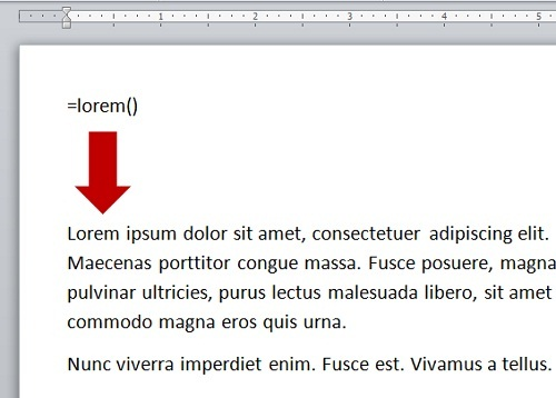 Tip: Quickly Generate Text in Microsoft Word