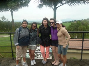 Girls at the golf course!