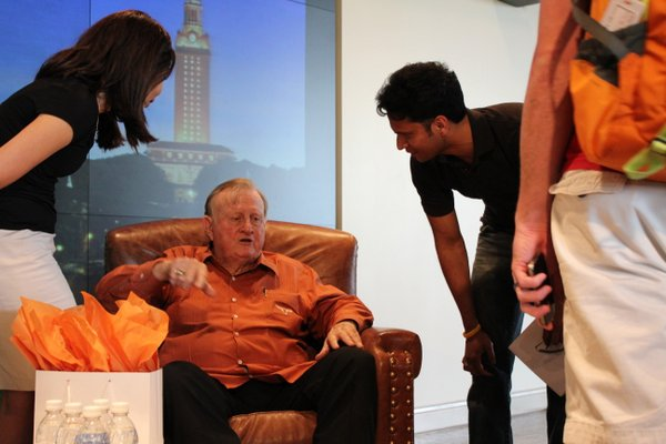 Students and Red McCombs
