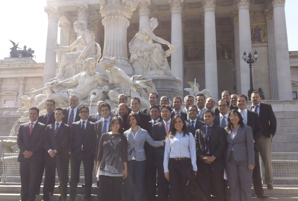 Students at the Austrian Parliament