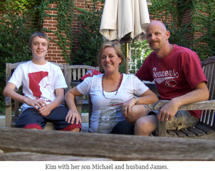 Kim McDaniel and her son Michael and husband James