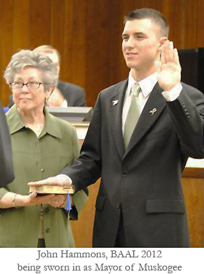 John Hammons swearing in
