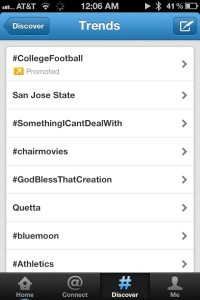 list of trending topics on Twitter, including San Jose State