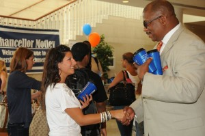 Chancellor Motley welcomes students to UMass Boston