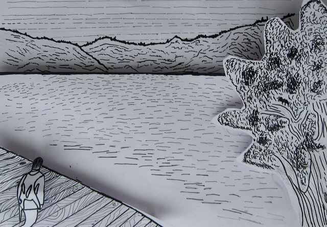 Using Lines In Drawing : Art line drawing reflection jakes blog