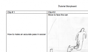 The tutorial storyboard