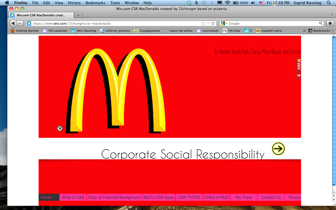 mcdonald csr The mcdonald's mcfamily will have a new head honcho in early 2015, and he has his work cut out for him.