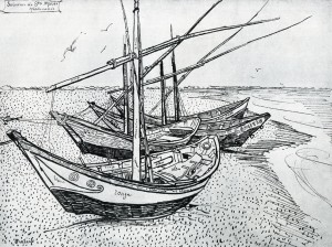 Fishing Boats on the beach (Van Gogh)