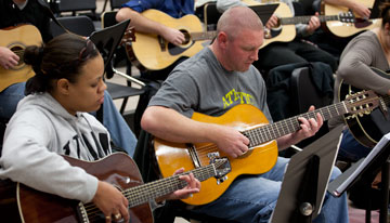 Guitars for Vets program at UWM