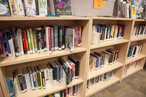The LGBT Resource Center is home to literature